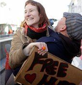 Free Hugs am Stephansplatz