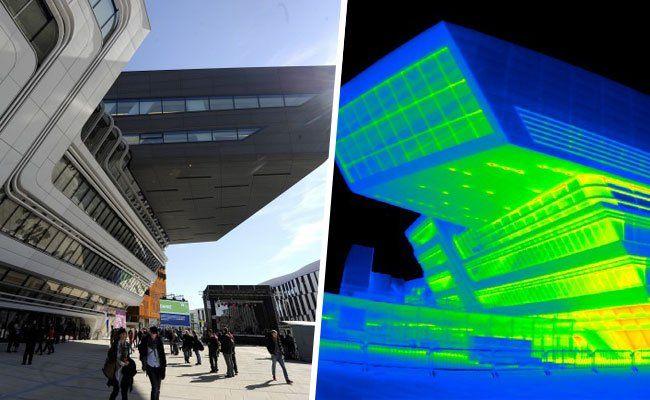 Die Wärmebilder der WU Wien zeigen die Grenzen der Außenthermografie.