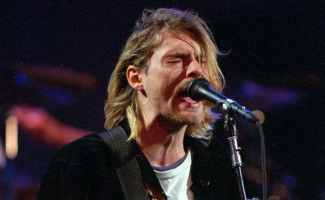 Kurt Cobain bei einem Auftritt 1993.