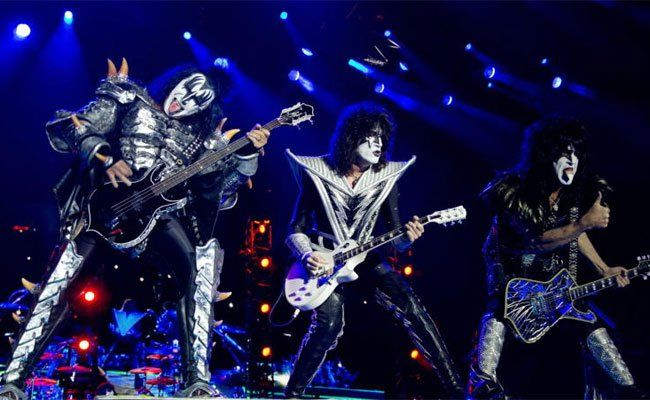 Gene Simmons, Paul Stanley and Tommy Thayer heizten dem Rock in Vienna zum Abschluss ein.