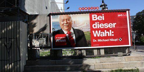 SPÖ setzt Securitys zum Schutz ihrer Wien-Wahl-Plakate ein