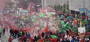 Zehntausende Belgier protestieren gegen Arbeitsrechtsreform