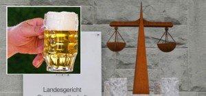 Bierglas zwei Mal auf den Kopf geschlagen