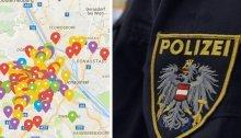 Die Wiener Verbrechens- Hotspots in der Crime Map