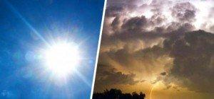 """Hoch """"Burkhard"""" bringt sommerliche Temperaturen und heftige Unwetter"""