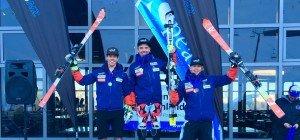 Mathis im Slalom auf Platz eins