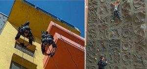 Klettern am Übungsturm und Seiltechnikvorführungen beim Wiener Ferienspiel 2016