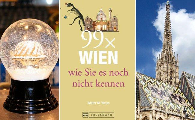 Im Buch findet man 99 Empfehlungen für ganz Wien.