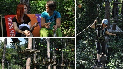 VIENNA.at in Action: Ein Besuch im Waldseilpark Kahlenberg