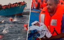 Fünf Tage alte Zwillinge im Mittelmeer gerettet