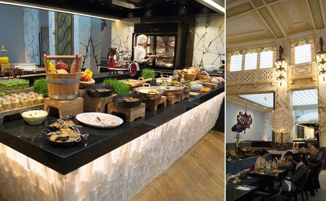 Küche und Ambiente garantieren ein stilvolles Frühstückserlebnis.