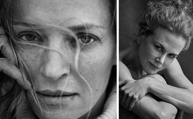 Uma Thurman und Nicole Kidman sind zwei der Hollywood-Stars im Pirelli Kalender 2017.