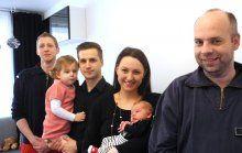 Ungeplante Hausgeburt: Familie bedankte sich