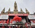 1. Mai 2017 in Wien: SPÖ lädt zu Kundgebung auf dem Rathausplatz