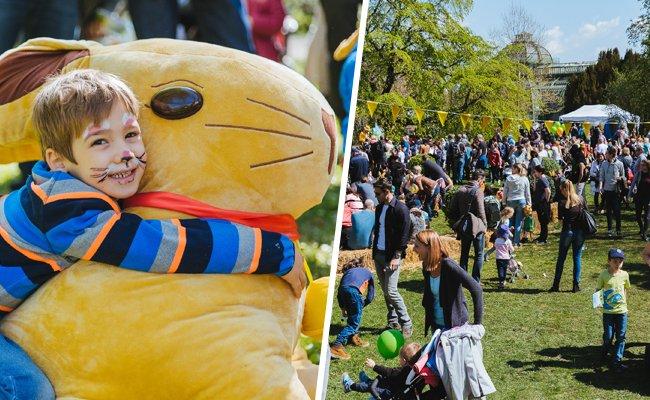 Beim Lindt Osterhasen-Fest hatten Groß und Klein ihren Spaß.