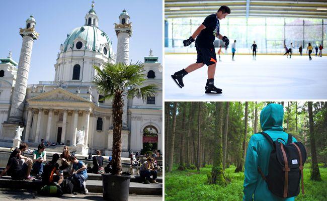 In Wien kann man sich an zahlreichen Orten abkühlen.
