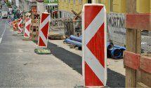 Bauarbeiten zur Fahrbahn-Sanierung Am Stadtpark