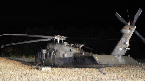 Black Hawk musste auf Feld in Niederösterreich notlanden