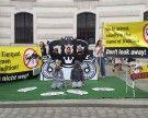 Fiaker-Aktion am Wiener Michaelerplatz: Ende der Pferdekutschen gefordert