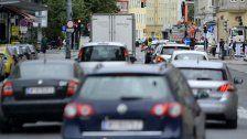 Straßensperre auf der Klosterneuburger Straße