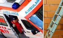 Von Leiter gestürzt: Arbeiter schwer am Kopf verletzt