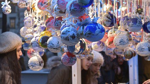 Weihnachtliches in den Wiener Einkaufsstraßen: Nikolo & Co