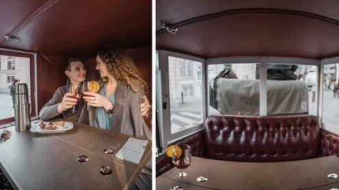 Riding Dinner Wien: Welt-erstes Fiaker-Restaurant nun winterfest