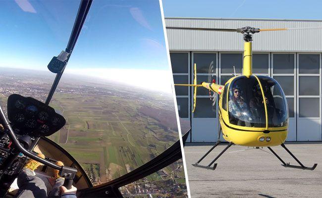 In Bad Vöslau darf man Helikopter selbst steuern.