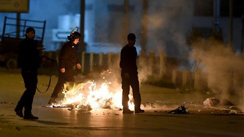 Protest in Tunesien: Polizei geriet mit Demonstranten aneinander