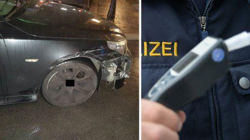 Alkolenker beschädigte mehrere Autos: Verfolgungsjagd mit Polizei