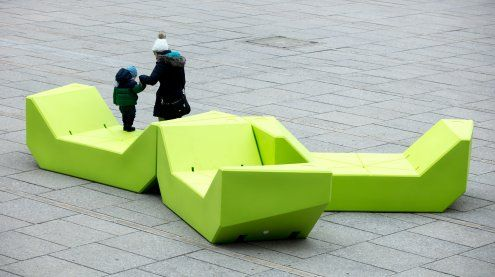 Farb-Abstimmung für die neuen Möbel im Museumsquartier Wien