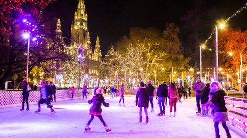 Wiener Eistraum: Gratis Eislaufen und Palatschinken von Häupl