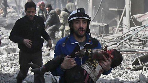 Syrien: Über 100 Zivilisten wurden bei Luftangriffen getötet