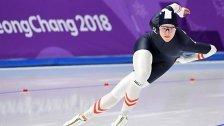 Eisschnellläuferin Herzog über 500 m Vierte