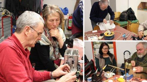 """Reparieren statt wegwerfen im Reparatur Café """"Schraube 14"""""""