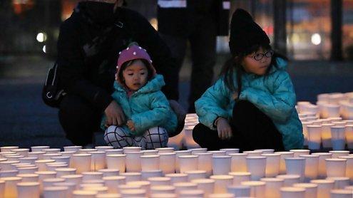 Gedenken in Japan an die Opfer der Tsunami-Katastrophe 2011