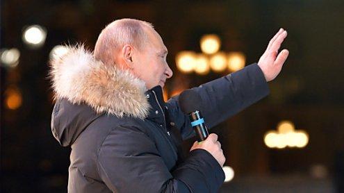 Wladimir Putin mit 76,6 Prozent der Stimmen wiedergewählt