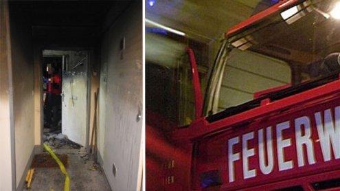 Wohnungsinhaberin tot, Nachbar und Feuerwehrmann verletzt