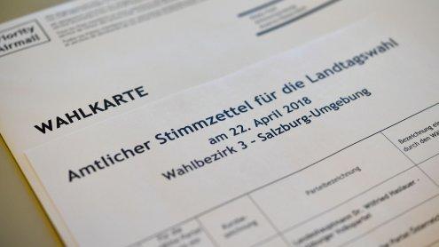 34.790 Wahlkarten für Salzburger Landtagswahl wurden ausgestellt
