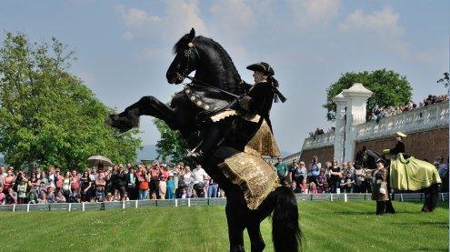 Maiauftakt auf Schloss Hof mit Tierumzug & traditionellem Tanz