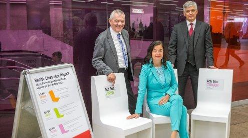 Neue U-Bahnwagen: Probesitzen und Abstimmung am Karlsplatz