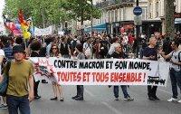 Zehntausende Franzosen bei Demo gegen Macrons Politik