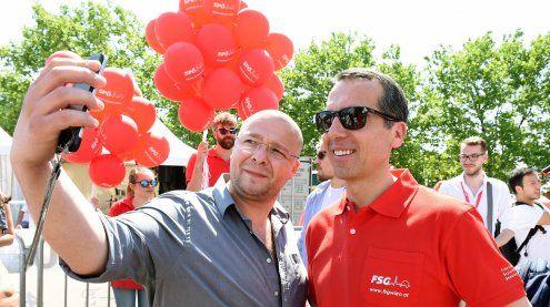 Politiker auf dem Donauinselfest