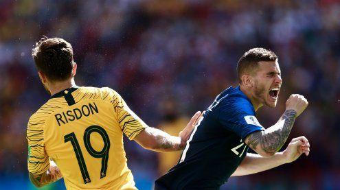 Frankreich ringt Australien mit 2:1 nieder: Zwei Elfmeter im Match
